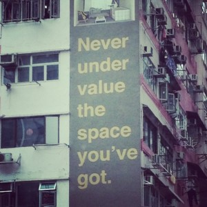 never under value the space you've got